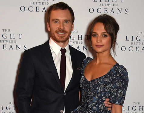 Slide 1 of 33: LONDON, ENGLAND - OCTOBER 19: Michael Fassbender and Alicia Vikander attend the UK Premiere of 'The Light Between Oceans' at The Curzon Mayfair on October 19, 2016 in London, England. (Photo by David M. Benett/Dave Benett/WireImage)