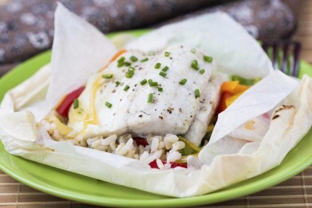 Diapositiva 5 de 50: El pescado blanco es una gran fuente de proteína magra porque es bajo en calorías. Trata de comer pescado blanco al menos dos veces por semana. Hay muchos tipos diferentes, así que ¡no debería ser un problema!