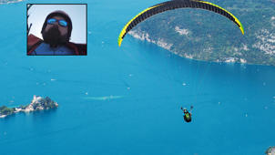 Panic in air: Man loses control of paraglider and falls into sea