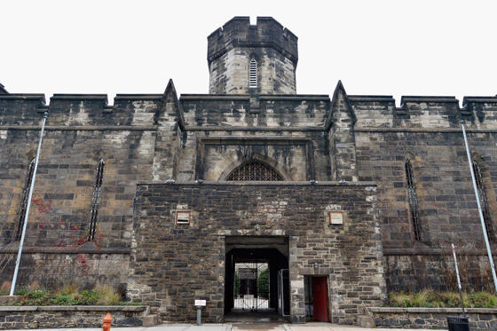 Slide 1 of 7: A general view of the Eastern State Penitentiary on Fairmount Avenue, opened in 1836 and closed in 1971, on December 30, 2015 in Philadelphia, Pennsylvania