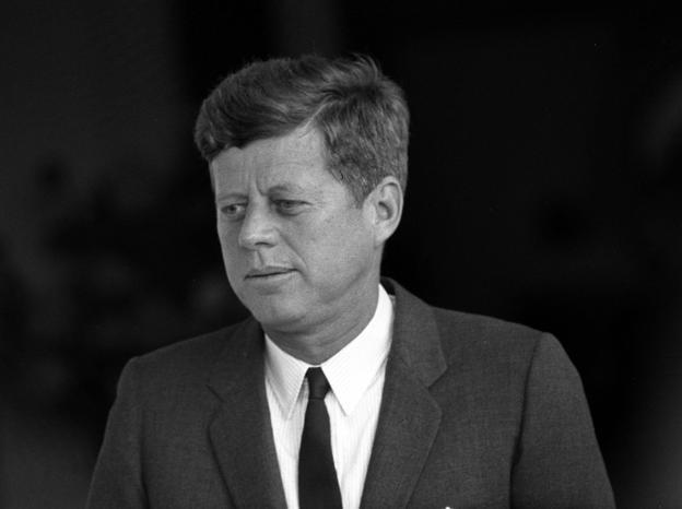 Former American President John F Kennedy.