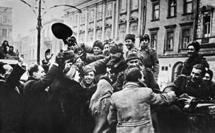 Krakow, Poland. Residents welcome the soldiers of the Red Army after the liberation of the city from German troops in the Second World War. TASS   (Photo by TASS via Getty Images)