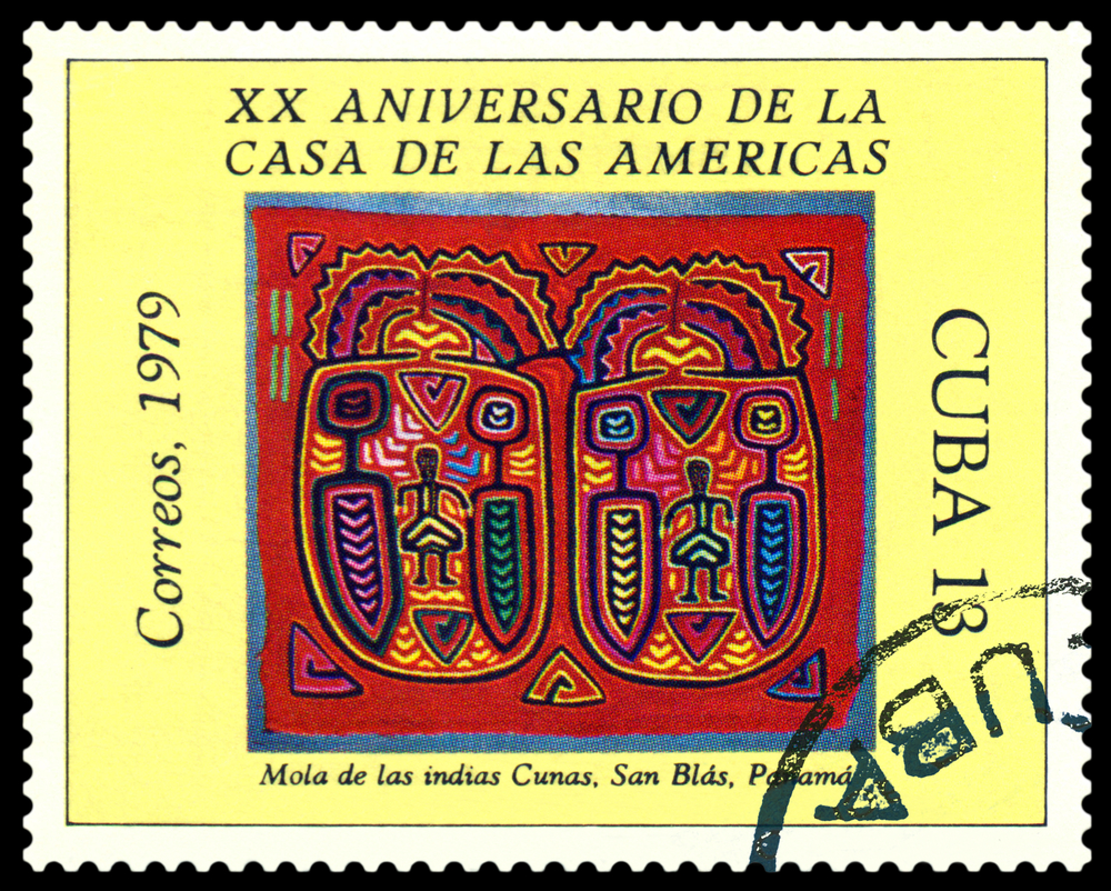 Slide 6 of 70: CUBA - CIRCA 1979: a stamp printed by Cuba shows House of the Americas Museum , 20th anniversary, circa 1979