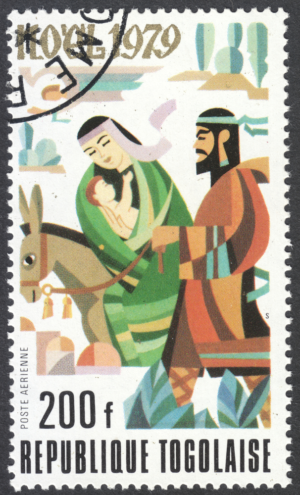 Slide 23 of 70: TOGO - CIRCA 1979: A post stamp printed in the Republic of Togo shows Escape into Egypt, circa 1979