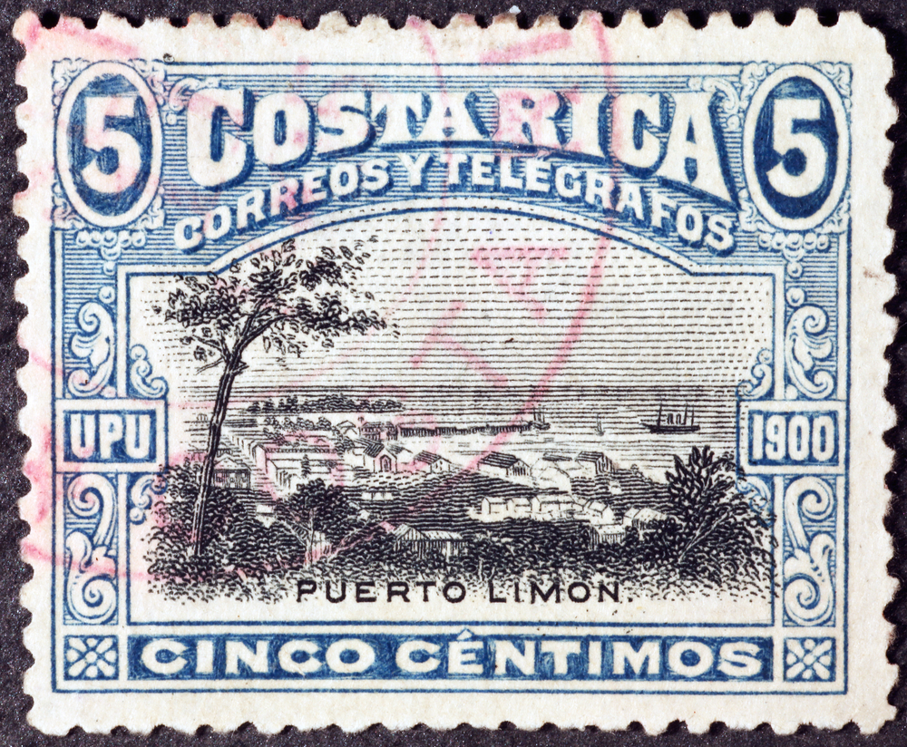 Slide 61 of 70: Milan, Italy - January 30, 2017: Vintage postage stamp of Costa Rica