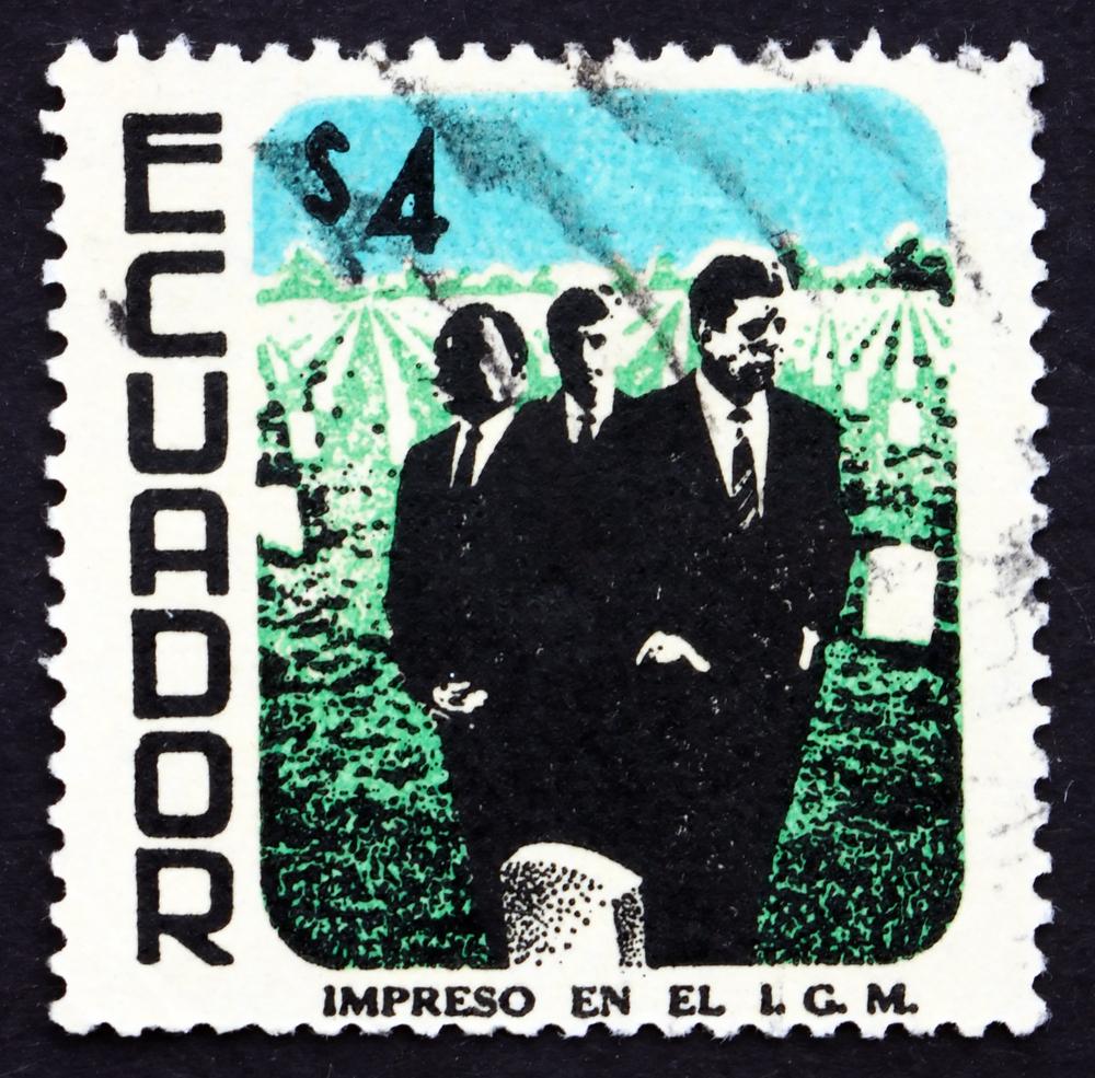 Slide 8 of 70: ECUADOR - CIRCA 1970: a stamp printed in the Ecuador shows Martin Luther King, John and Robert Kennedy, circa 1970