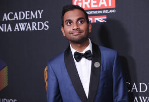 BEVERLY HILLS, CA - OCTOBER 27: Actor Aziz Ansari attends the 2017 AMD British Academy Britannia Awards at The Beverly Hilton Hotel on October 27, 2017 in Beverly Hills, California. (Photo by Jason LaVeris/FilmMagic)