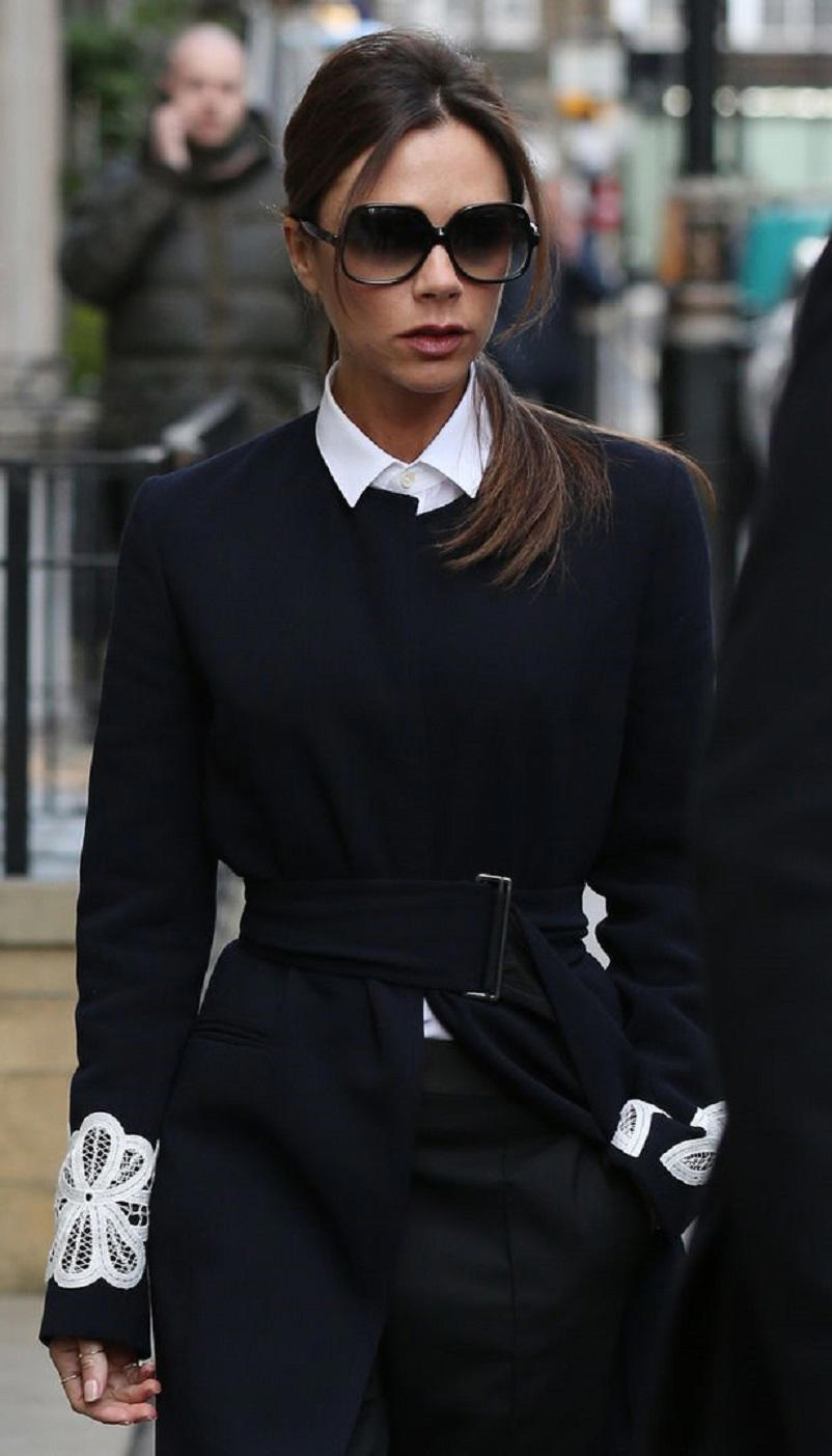 Victoria Beckham seen leaving her store on Dover Street in London (Image: Neil Mockford/GC Images)