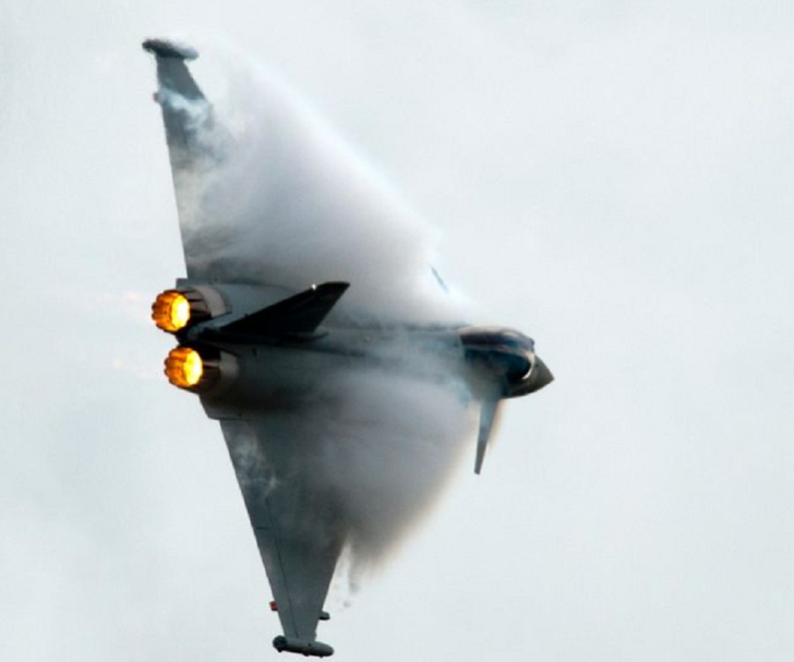 Typhoon fighter jets have been scrambled over the coast of Scotland