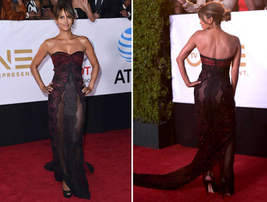 Slayt 3/41: CAPTION: Halle Berry arrives at the 49th annual NAACP Image Awards at the Pasadena Civic Auditorium on Monday, Jan. 15, 2018, in Pasadena, Calif. (Photo by Richard Shotwell/Invision/AP)
