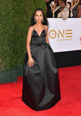 Slide 34 de 61: PASADENA, CA - JANUARY 15:  Kerry Washington at the 49th NAACP Image Awards on January 15, 2018 in Pasadena, California.  (Photo by Earl Gibson III/WireImage)