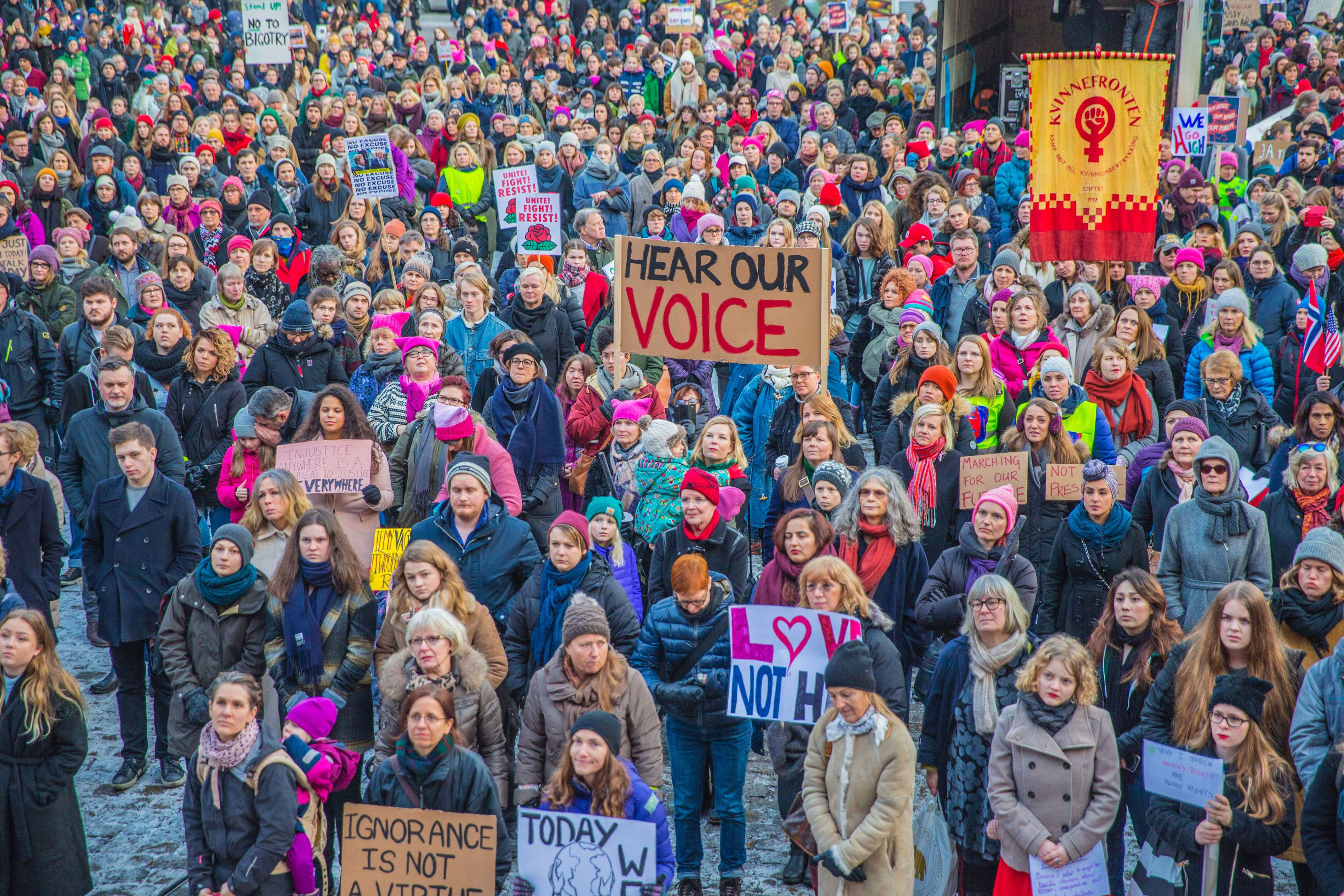 Slide 35 of 35: Protesters gather for the Women's March in Oslo, Norway, January 21, 2017. The march is being held in solidarity with similar events taking place internationaly. / AFP / NTB Scanpix / Stian Lysberg SOLUM / Norway OUT        (Photo credit should read STIAN LYSBERG SOLUM/AFP/Getty Images)
