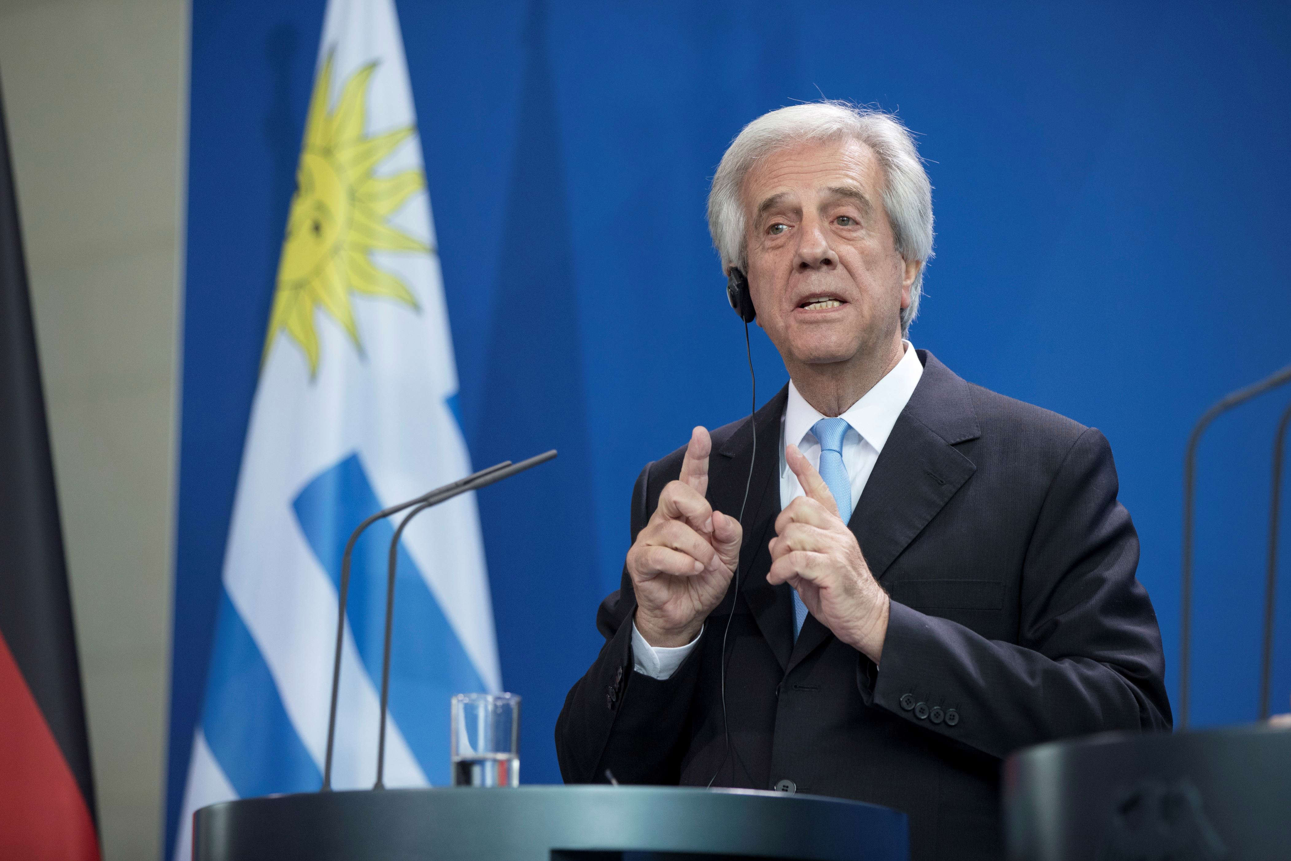 Slide 28 of 35: President of Uruguay Tabare Vazquez is pictured during a news conference held with German Chancellor Angela Merkel (not in the picture) at the Chancellery in Berlin, Germany on February 8, 2017. (Photo by Emmanuele Contini/NurPhoto via Getty Images)