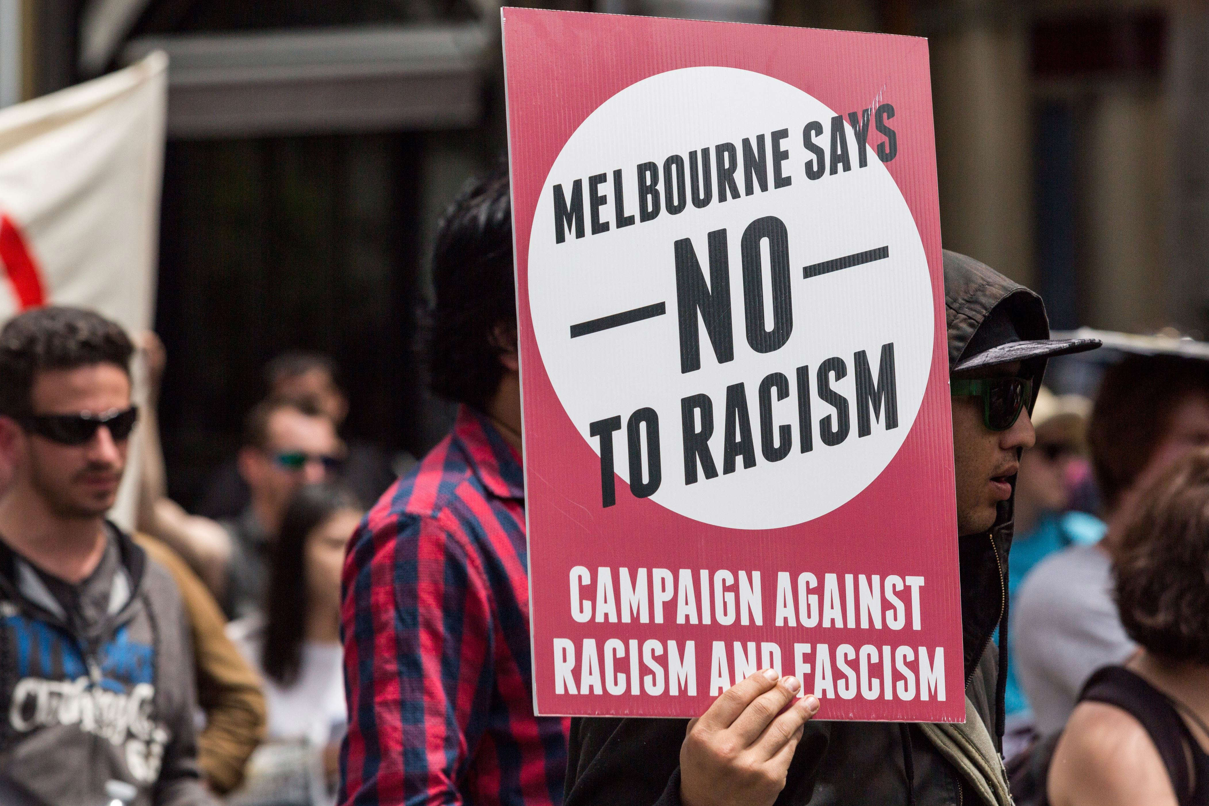 Slide 26 of 35: MELBOURNE, AUSTRALIA - NOVEMBER 20 : People stage a protest against President-elect Donald Trump of Republican Party in Melbourne, Australia on November 20, 2016. (Photo by Asanka Brendon Ratnayake/Anadolu Agency/Getty Images)
