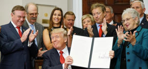Dave Ratner (second from left) in attendance at the White House on October 12, when President Trump signed a executive order on health care.