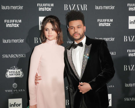 Diapositiva 1 de 41: Harper's Bazaar ICONS party, Spring Summer 2018, New York Fashion Week, USA - 08 Sep 2017 Selena Gomez, The Weeknd