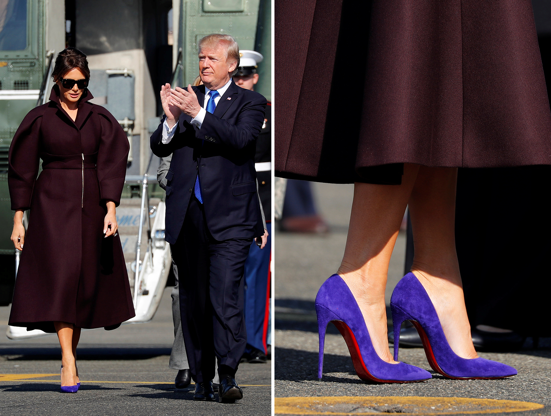 04e14b46def Slide 2 of 116  U.S. first lady Melania Trump greets U.S. military leaders  as she