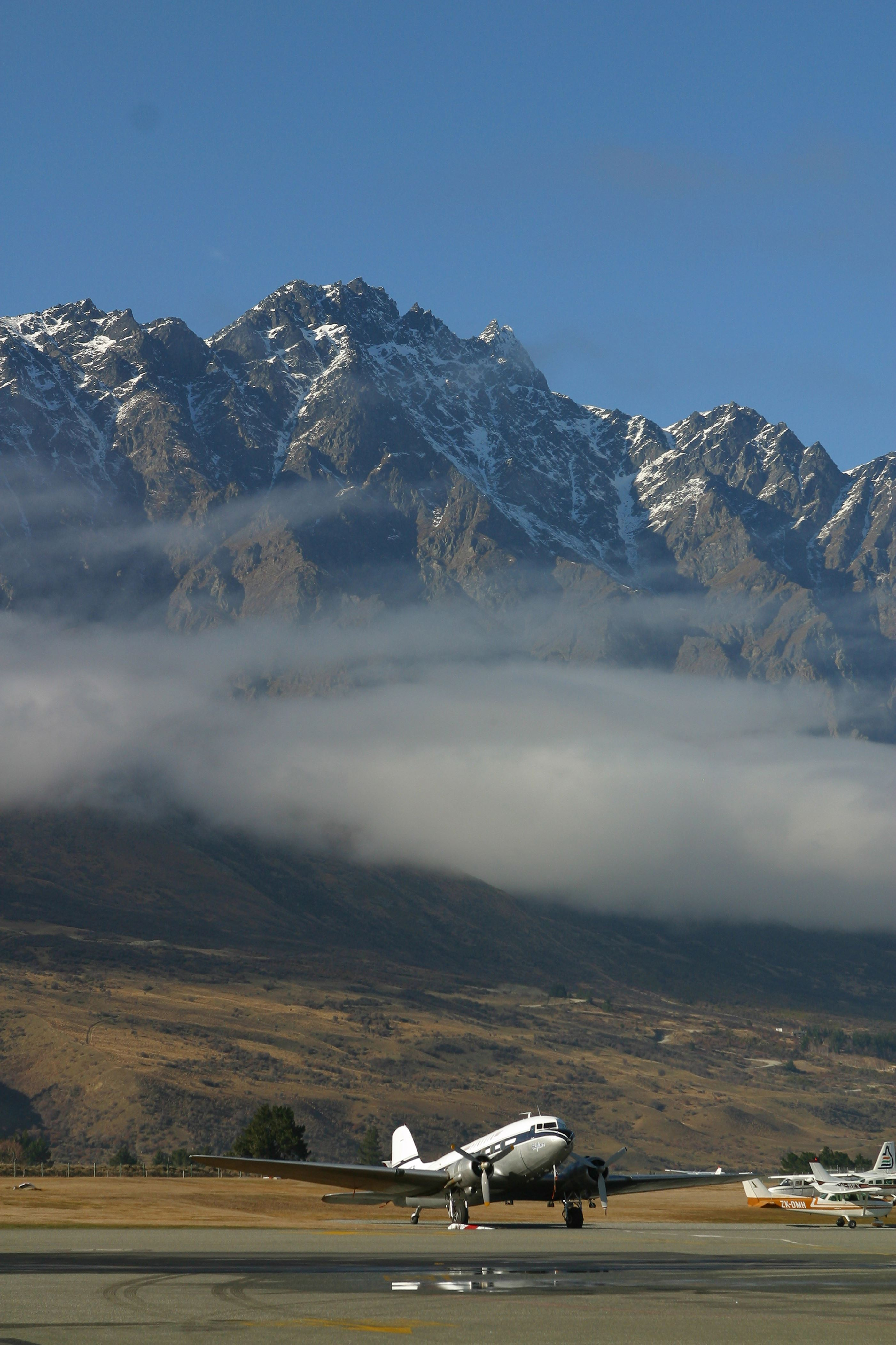 Slide 13 of 20: Queenstown Airport, South Island, New Zealand. 2010s