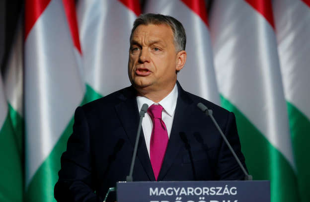 Hungarian Prime Minister Viktor Orban speaks during his state-of-the-nation address in Budapest, Hungary, February 10, 2017.