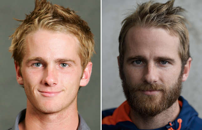 Slide 3 of 71: KUALA LUMPUR, MALAYSIA - FEBRUARY 12: Kane Williamson of New Zealand poses during the ICC U/19 Cricket World Cup official team photo calls at the Sunway Hotel on February 12, 2008 in Kuala Lumpur, Malaysia. (Photo by Peter Lim/Getty Images); CHRISTCHURCH, NEW ZEALAND - MARCH 29: New Zealand captain Kane Williamson pictured ahead of the second test match against the New Zealand Black Caps at Hagley Oval on March 29, 2018 in Christchurch, New Zealand. (Photo by Stu Forster/Getty Images)
