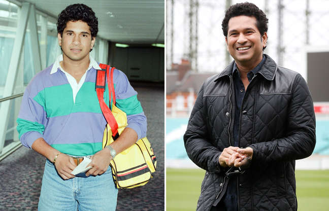 Slide 2 of 71: Sachin Tendulkar, first overseas signing for Yorkshire County Cricket Club, pictured arriving at London Heathrow Airport, 28th April 1992. (Photo by Victor Crawshaw/Mirrorpix/Getty Images); Indian former cricket player Sachin Tendulkar smiles as he walks around the pitch at the Oval cricket ground to promote his upcoming film, in London, Saturday, May 6, 2017. The film, Sachin: A Billion Dreams is an Indian biographical film written and directed by James Erskine and produced by Ravi Bhagchandka. The film, based on the life of Tendulkar will be released on May 26. (AP Photo/Kirsty Wigglesworth)