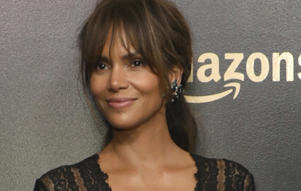 Halle Berry arrives at the Amazon Studios Golden Globes afterparty at the Beverly Hilton Hotel on Sunday, Jan. 7, 2018, in Beverly Hills, Calif