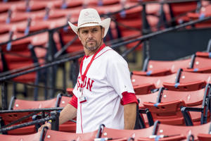 BOSTON, MA - JULY 15: Boston Marathon bombing hero Carlos Arredondo looks on before a game between the Boston Red Sox and the New York Yankees on July 15, 2017 at Fenway Park in Boston, Massachusetts. (Photo by Billie Weiss/Boston Red Sox/Getty Images)
