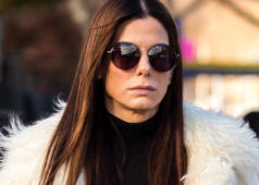 Sandra Bullock is seen on location for 'Ocean's Eight's 8' on December 3, 2016 in New York City.