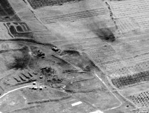 This image provided by the Department of Defense was presented as part of a briefing slide at the Pentagon briefing on Saturday, April 14, 2018, and shows a photo of a preliminary damage assessment from the Him Shinshar Chemical Weapons Storage Site in Syria that was struck by missiles from the U.S.-led coalition in response to Syria's use of chemical weapons on April 7.