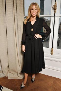 Slide 24 de 61: Schiaparelli show, Front Row, Spring Summer 2018, Haute Couture Fashion Week, Paris, France - 22 Jan 2018Kylie Minogue in the front row