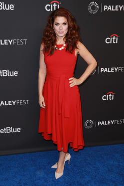 Slide 11 de 49: CAPTION: HOLLYWOOD, CA - MARCH 17: Actress Debra Messing attends the 2018 PaleyFest Los Angeles - NBC's 'Will & Grace' at Dolby Theatre on March 17, 2018 in Hollywood, California. (Photo by Leon Bennett/WireImage)