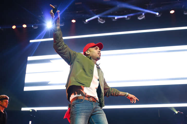 Singer Chris Brown performs on stage at The Big Show at Little Caesars Arena on December 28, 2017 in Detroit, Michigan.