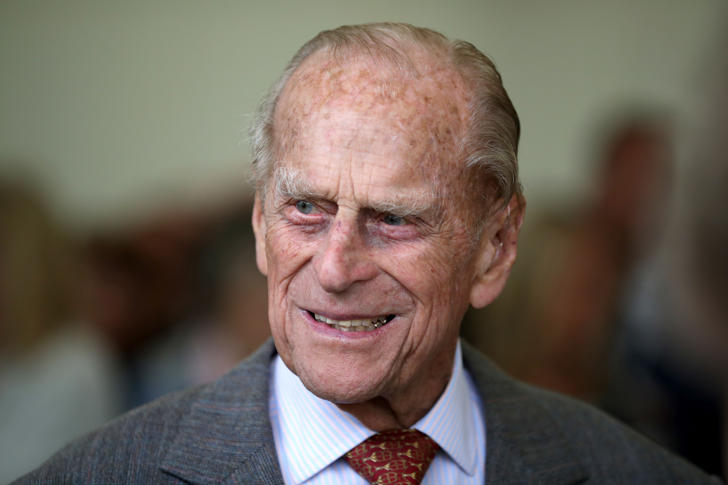 Britain's Prince Philip, Duke of Edinburgh attends the Presentation Reception for The Duke of Edinburgh Gold Award holders in the gardens at the Palace of Holyroodhouse in Edinburgh on July 6, 2017. / AFP PHOTO / POOL / Jane Barlow        (Photo credit should read JANE BARLOW/AFP/Getty Images)