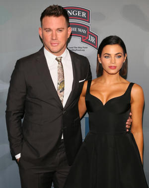 Channing Tatum and Jenna Dewan Tatum attend the premiere of 'War Dog: A Soldier's Best Friend' presented by HBO and Army Ranger Lead The Way Fun on November 6, 2017 in Los Angeles, California. (Photo by JB Lacroix/ WireImage)