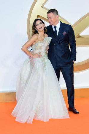 Channing Tatum and Jenna Dewan attend the 'Kingsman: The Golden Circle' World Premiere held at Odeon Leicester Square on September 18, 2017 in London, England. (Photo by Joe Maher/FilmMagic)