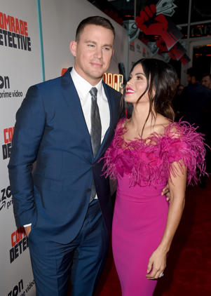 Channing Tatum and Jenna Dewan arrive at the premiere of Amazon's 'Comrade Detective' at the Arclight Theatre on August 3, 2017 in Los Angeles, California.  (Photo by Kevin Winter/Getty Images)