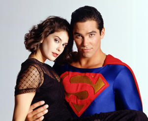 THE NEW ADVENTURES OF SUPERMAN - Ad Gallery - 8/16/94, Teri Hatcher (Lois), Dean Cain (Superman/Clark).
