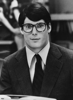 24-year-old American actor Christopher Reeve plays the hero's mild-mannered alter ego Clark Kent, in the film 'Superman'.