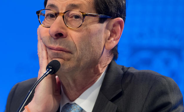 Maurice Obstfeld, Economic Counsellor and Director of the Research Department at the IMF, holds a press briefing on the World Economic Outlook at IMF Headquarters in Washington, DC