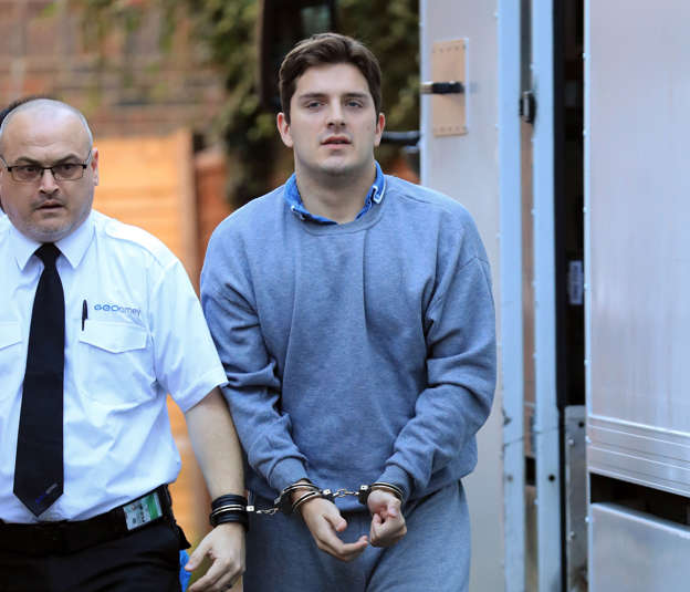 Daryll Rowe, 26, arrives at Lewes Crown Court, where he is charged with infecting four men with the HIV, and of attempting to infect a further six between October 2015 and December 2016.