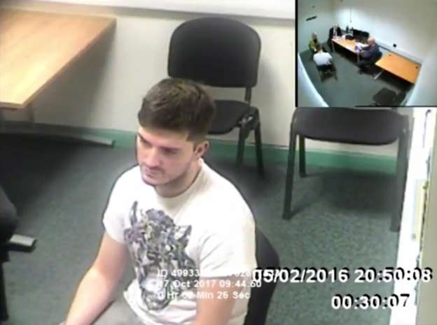 Handout video still issued by Sussex Police of Daryll Rowe, 26, during a police interview where he denied having HIV. Rowe has been found guilty at Lewes Crown Court of ten charges of deliberately trying to infect men he met on Grindr with HIV in Brighton, East Sussex and the North East.
