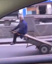Chinese man uses modified handcart on road