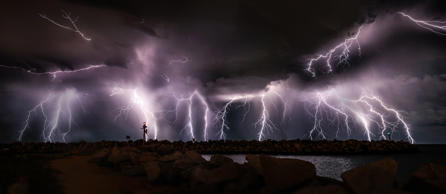 Lightning storms above Perth, Australia - Feb 2015