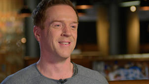 a close up of Damian Lewis: Damian Lewis was hungover when Steven Spielberg offered him 'Band of Brothers' role