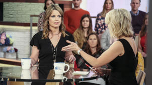 Savannah Guthrie et al. posing for the camera: Bela and Martha Karolyi break their silence about USA Gymnastics scandals