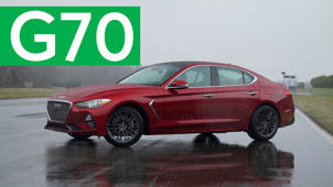 a car parked in a parking lot: 2019 Genesis G70 Quick Drive