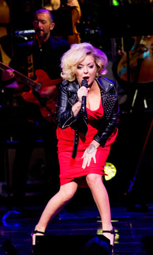 MANCHESTER, ENGLAND - APRIL 16:  Sheridan Smith performs live on stage at The Bridgewater Hall on April 16, 2018 in Manchester, England.  (Photo by Shirlaine Forrest/WireImage)