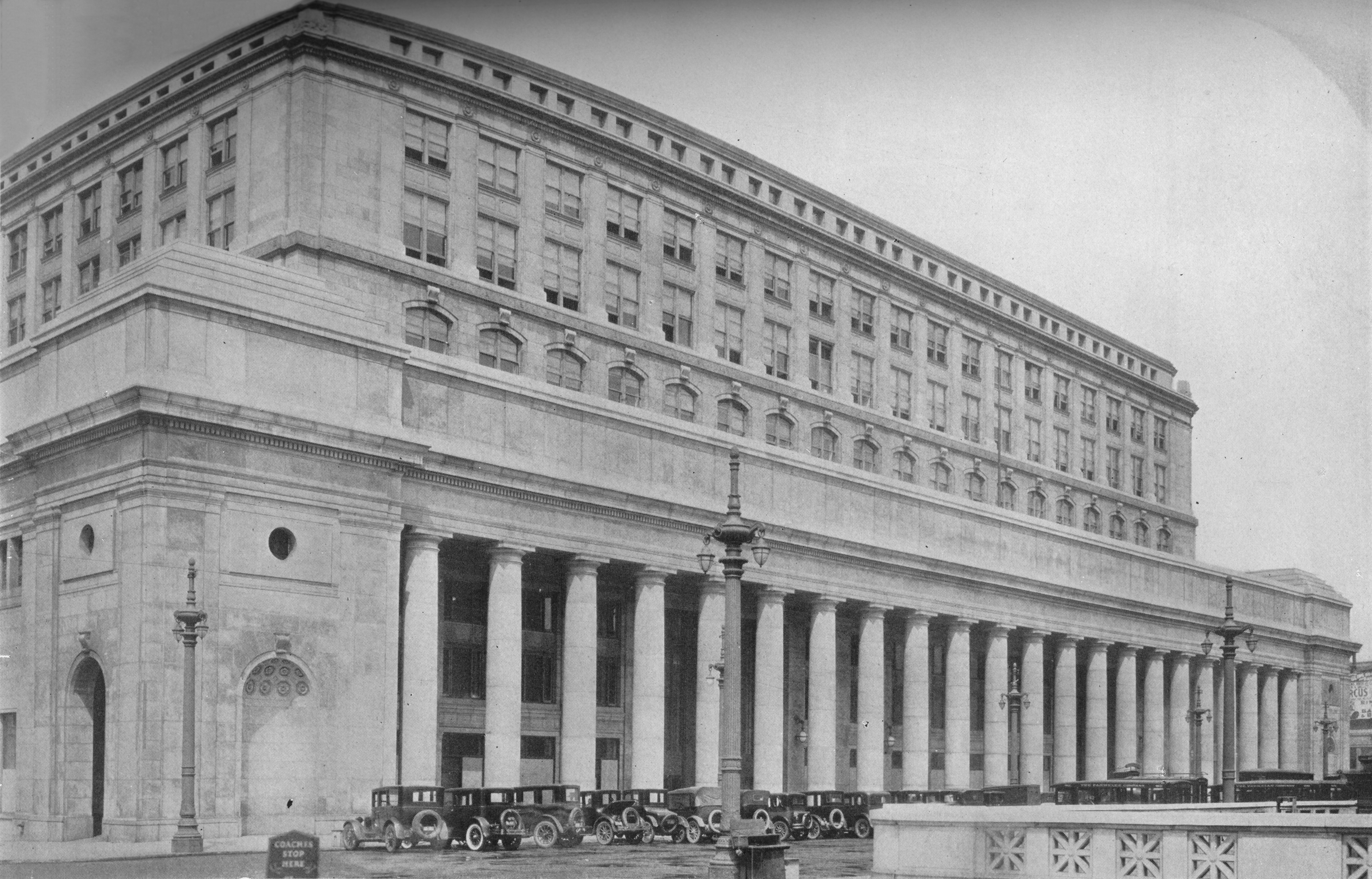 Slide 20 of 29: Canal Street Facade, Chicago Union Station, Illinois, 1926