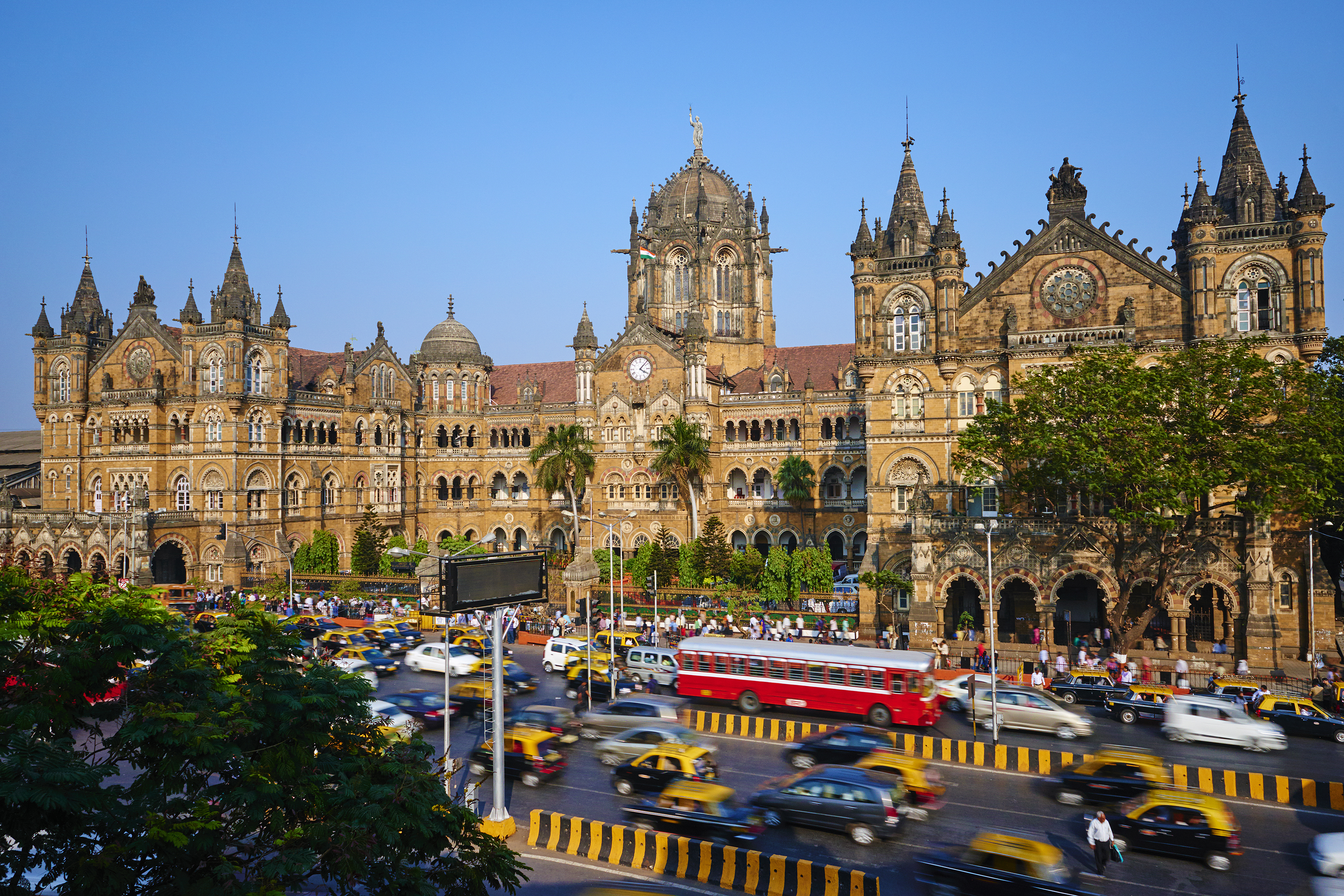 Slide 15 of 29: India, Maharashtra, Mumbai (Bombay), Victoria Terminus railways station or Chhatrapati Shivaji