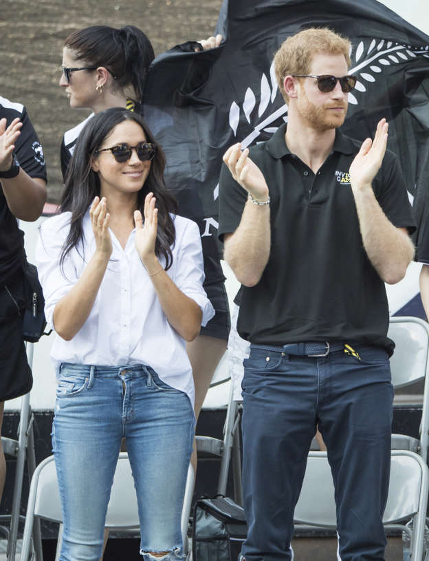 bcddfdfd9a033 Prince Harry and Meghan Markle watch Wheelchair Tennis at the 2017 Invictus  Games in Toronto